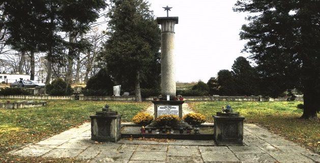 г. Бжозув. Памятник, установленный на братской могиле, в которой захоронено 500 советских воинов, в т.ч. 313 неизвестных.