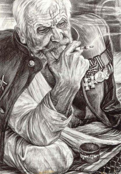Добров Геннадий. Старый воин.