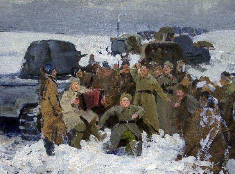 Максимов Константин. На фронтовой дороге.