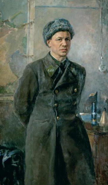 Серов Владимир. Портрет полкового комиссара В.И. Цветкова.
