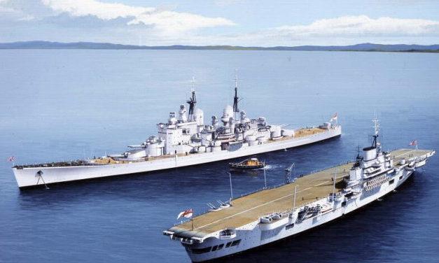 Berryman Ivan. Линкор «Vanguard» и авианосец «Indefatigable».