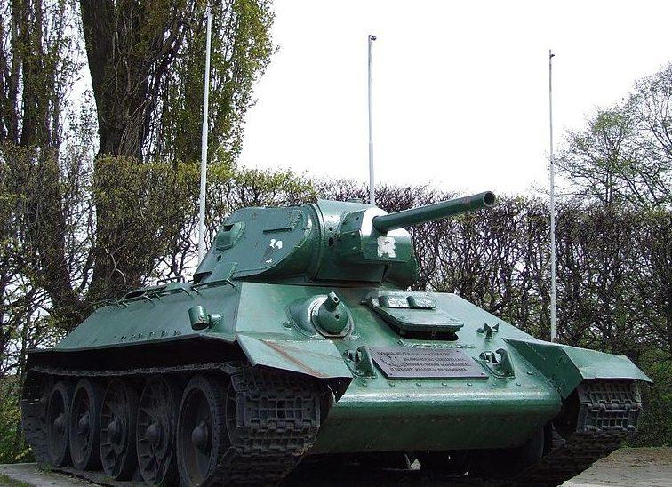 Памятник -танк Т-34-76.