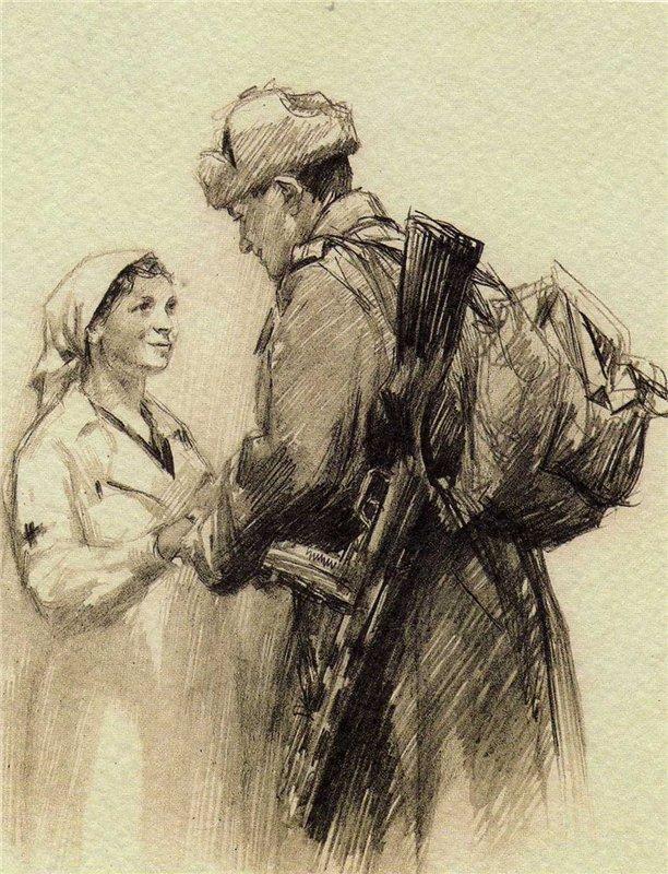 Жуков Николай. Спасибо родная! 1943 год.