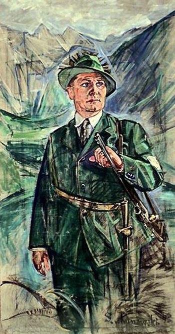 Куновский C. Портрет Г. Геринга в охотничьем костюме.