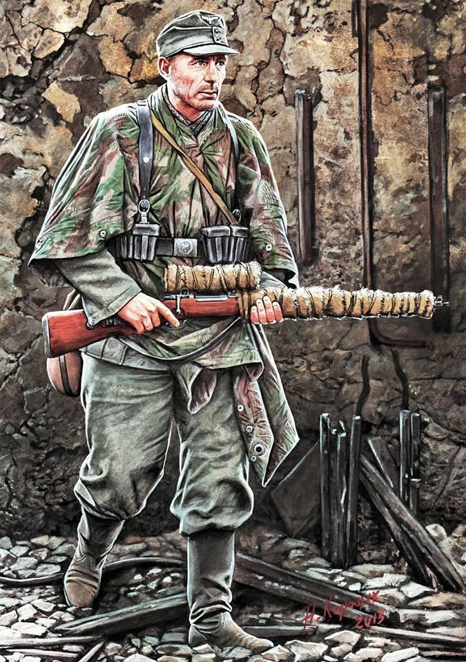 Каращук Андрей. Немецкий снайпер.