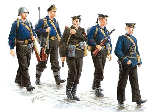 Каращук Андрей. Советские моряки.