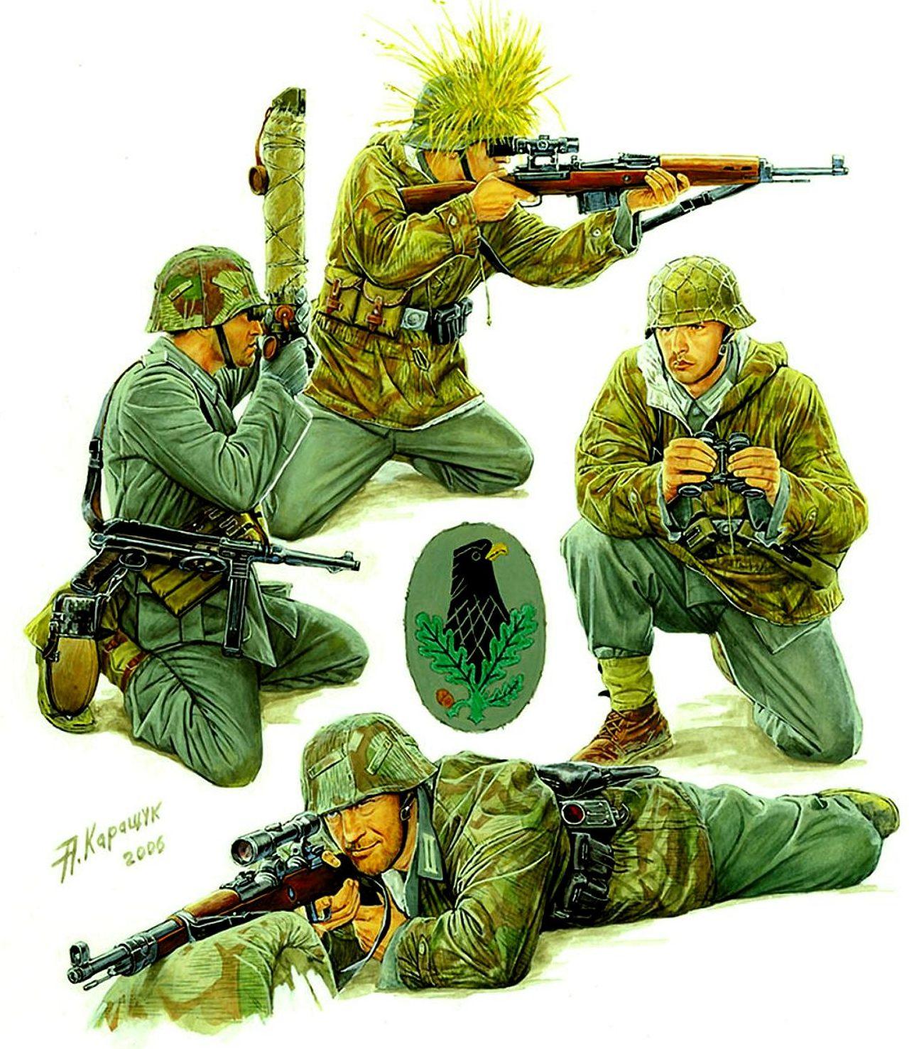 Каращук Андрей. Немецкие снайперские пары.