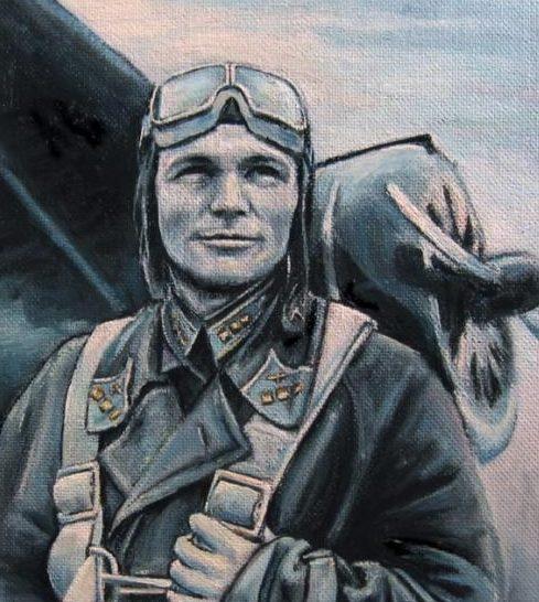 Курзанов Евгений. Портрет летчика.