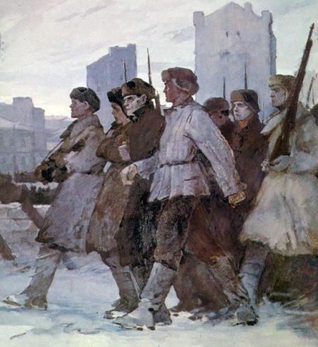 Нисский Георгий. На защиту Москвы. Ленинградское шоссе.