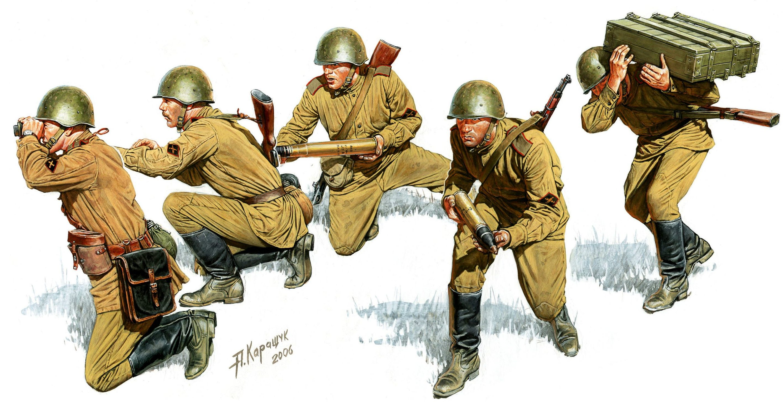 Каращук Андрей. Советские артиллеристы.