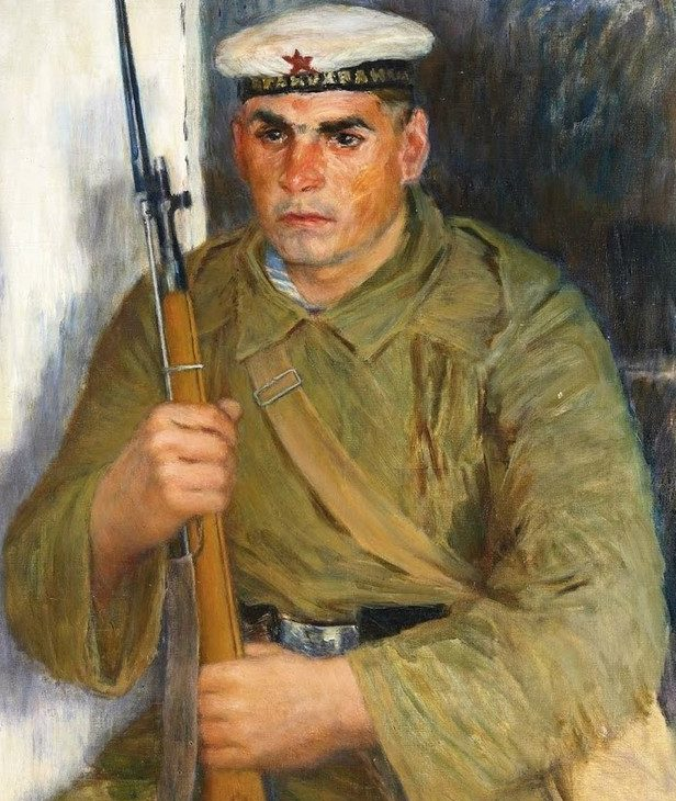 Лебедев Владимир. Портрет моряка-краснофлотца.