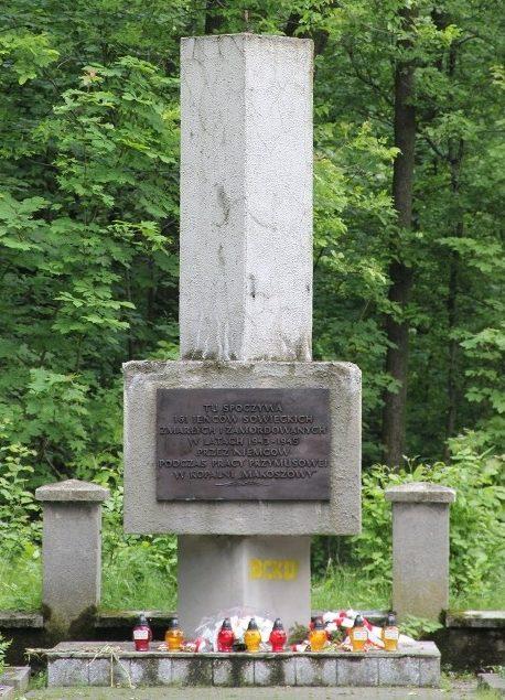 г. Забже. Памятник в парке им. Шленских повстанцев по улице Спортивная, установлен на воинском кладбище, где похоронено 161 советский воин.