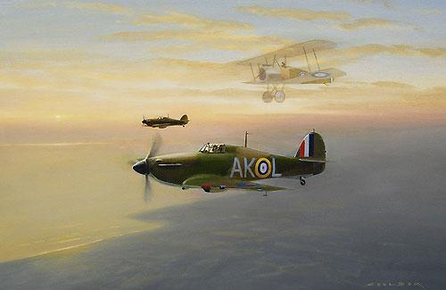 Coulson Gerald. Истребитель Hawker Hurricanes Mk 1.