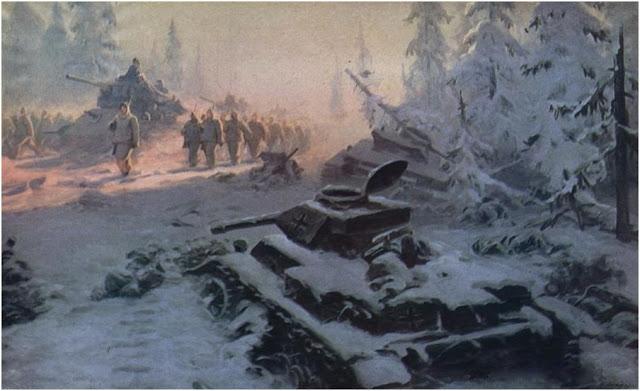 Домащенко Марк. Под Москвой, 1941 год.