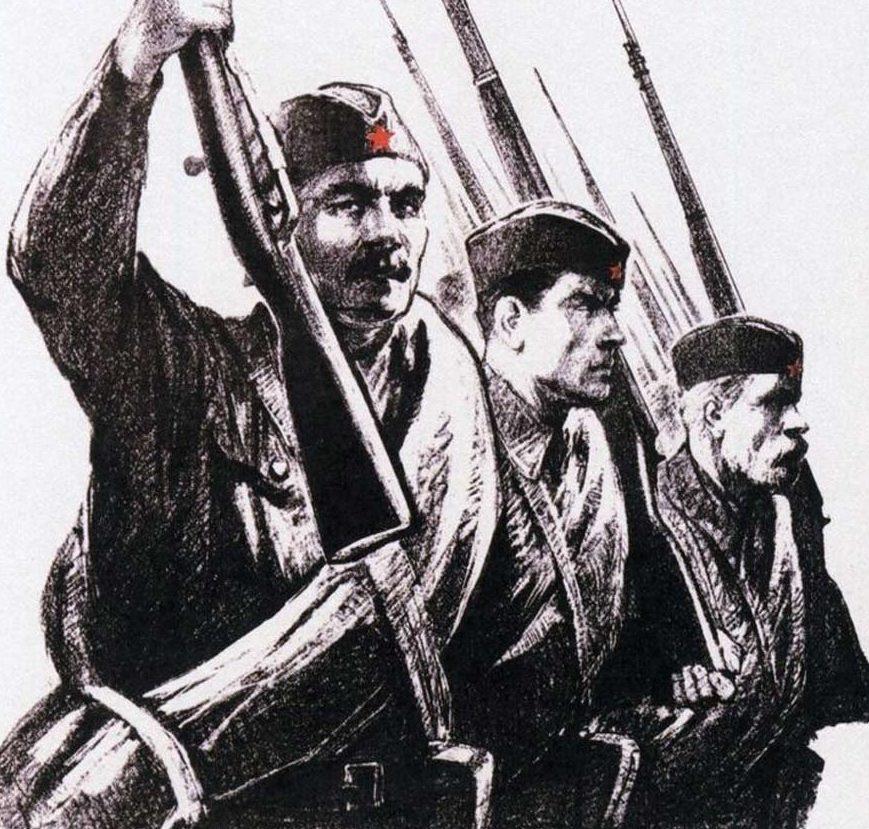 Серов Владимир. Вступайте в ряды народного ополчения.