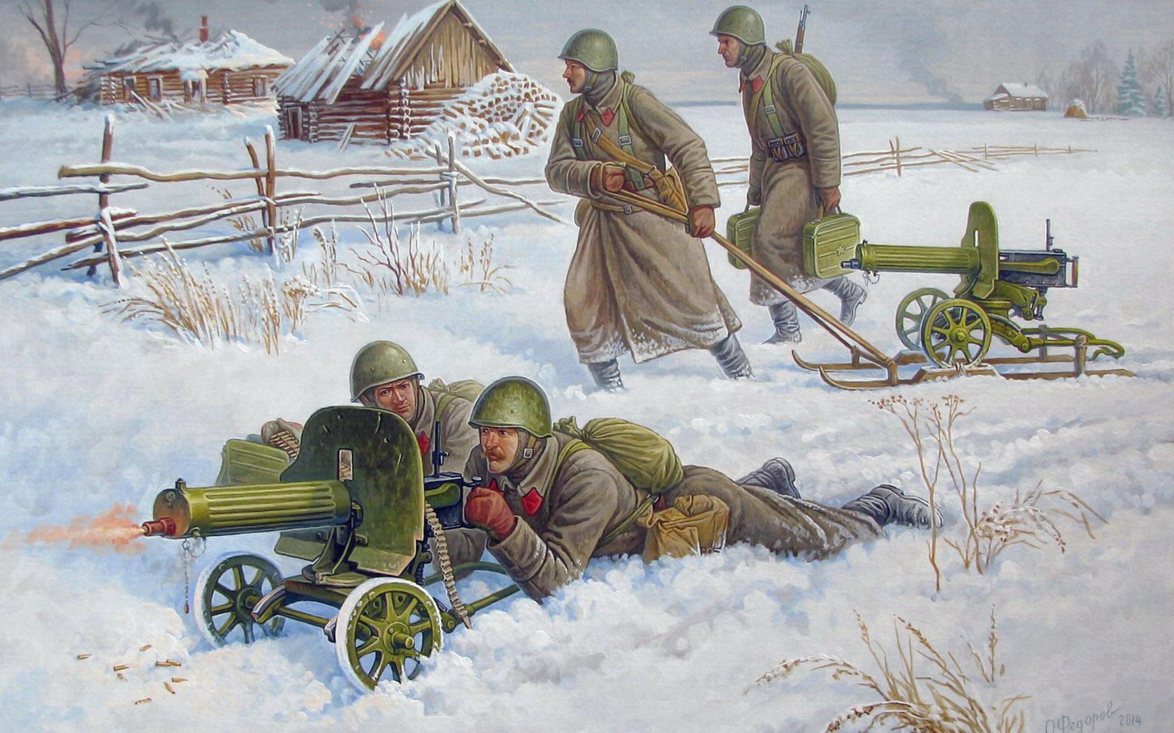Федоров Олег. Пулеметный расчет.