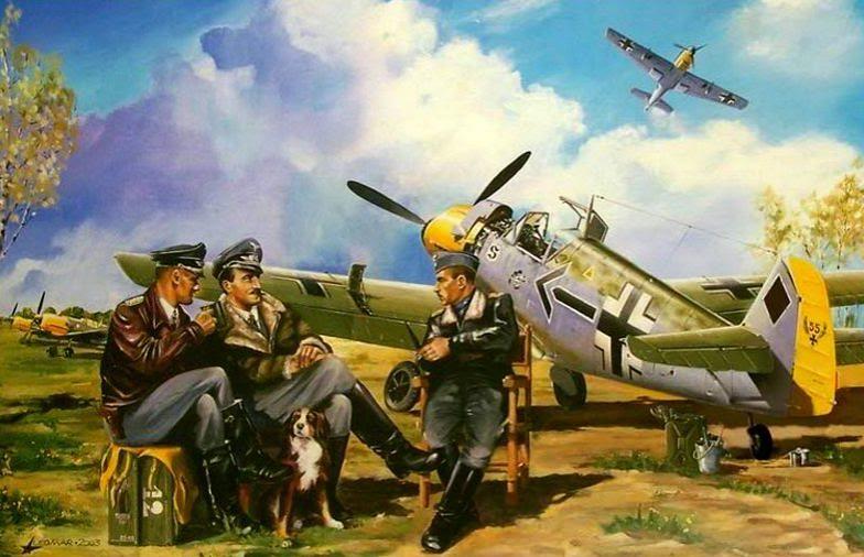 Каушанский Леонид. Истребитель Messerschmitt Bf-109.