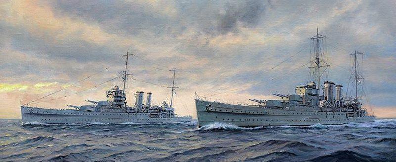 Watton Ross. Крейсера «York» and «Exeter».