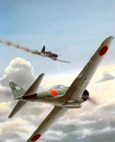 Wyllie Iain. Истребитель Mitsubishi A-6M3a (Zero).