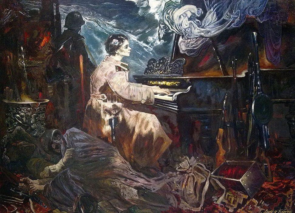 Толочко Виктор. Пианистка.
