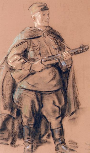 Голованов Леонид. Портрет гвардии капитана Сорокина М.Я.