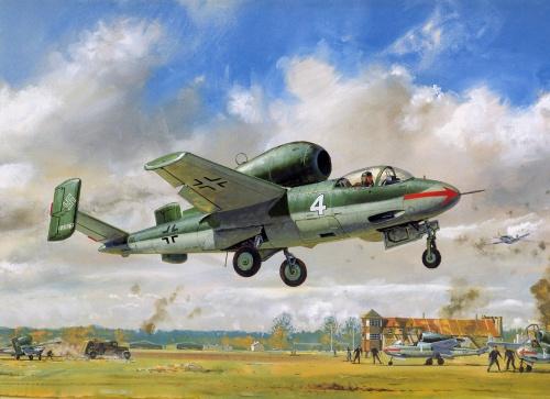 Cross Roy. Реактивный истребитель He-162.