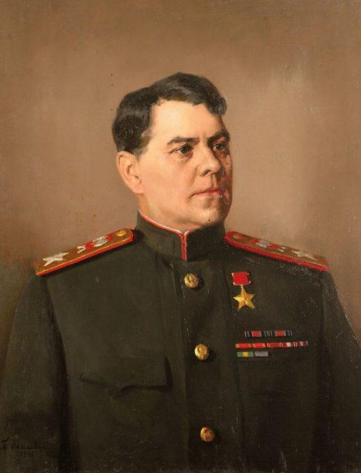 Мальков Павел. Портрет маршала А.М. Василевского.