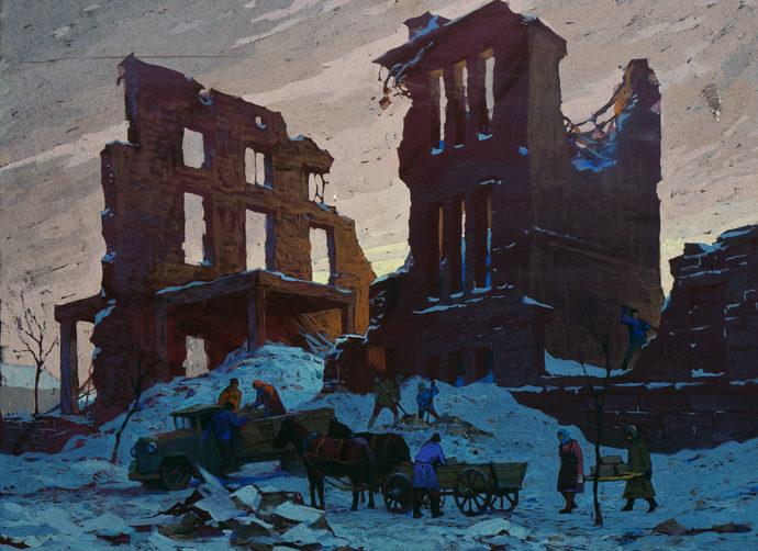 Зыков Геннадий. Развалины дома.