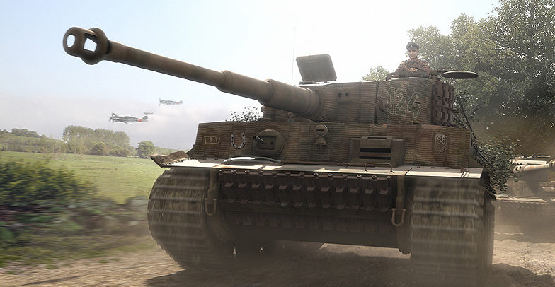 Hector Gareth. Тигры перед атакой.