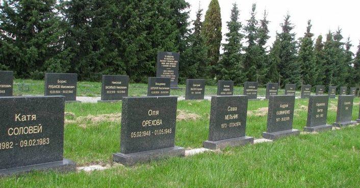 Могилы советских воинов.