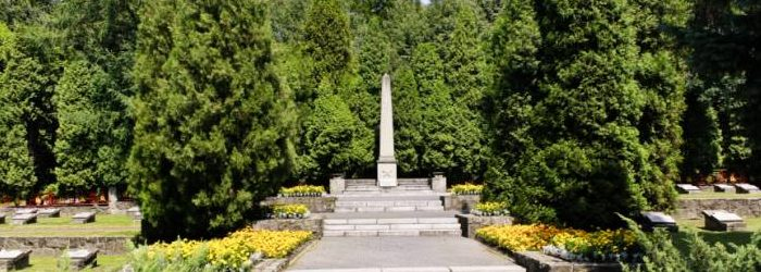 г. Катовице. Воинское кладбище по улице Тадеуша Костюшки, где захоронено 165 советских воинов, в т.ч. 65 неизвестных, погибших в годы войны.