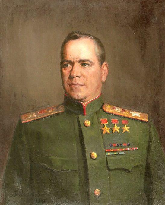 Мальков Павел. Портрет маршала Г.К. Жукова.