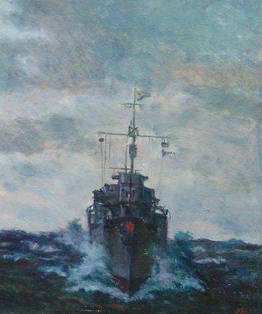 Нисский Георгий. Военный корабль.