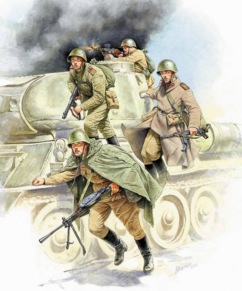 Каращук Андрей. Советский танковый десант.