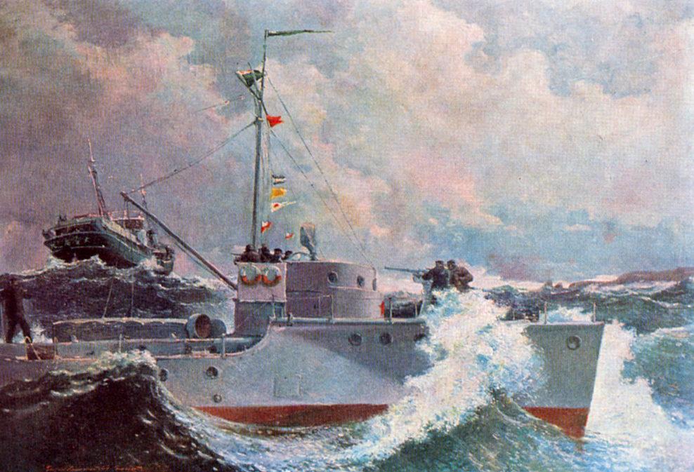 Нисский Георгий. Задержание японской шхуны в советских водах.