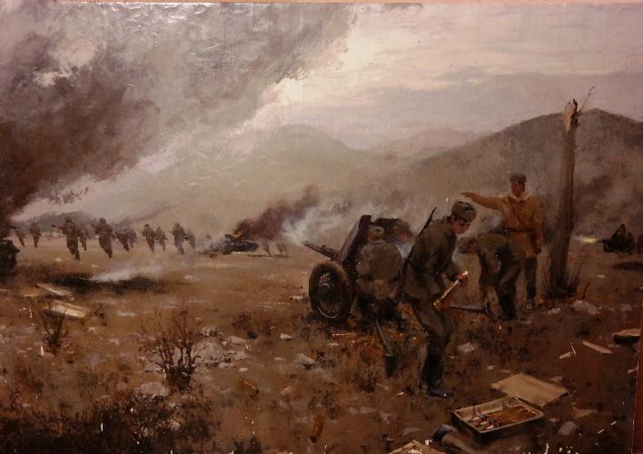 Коваленко Виктор. Артиллерийская атака.