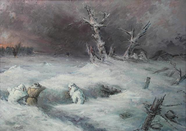 Жаренов Александр. Бой на холме Березуйском под Ржевом.