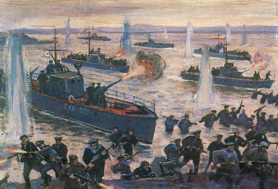 Печатин Валентин. Прорыв кораблей в Килийское гирло Дуная.