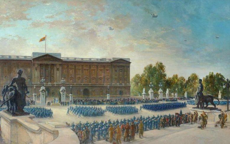 Cundall Charles. Парад в Букингемском дворце.