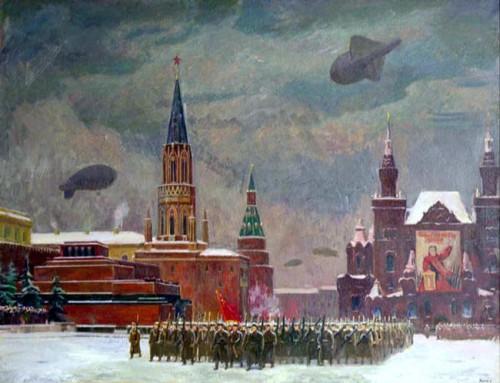 Коган Ф. Парад на Красной площади 7 ноября 1941 года.