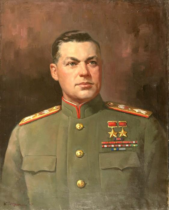 Корыгин Константин. Портрет маршала К. Рокоссовского.
