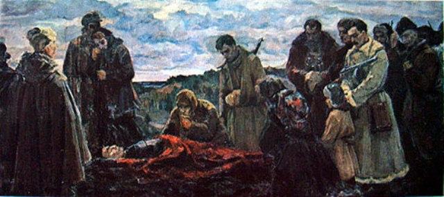Зайцев Евгений. Похороны героя.