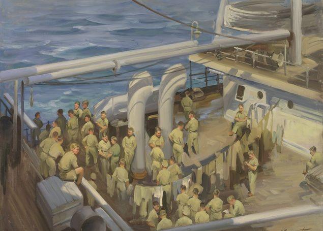Buckmaster Ernest. Возвращение австралийских военнопленных.