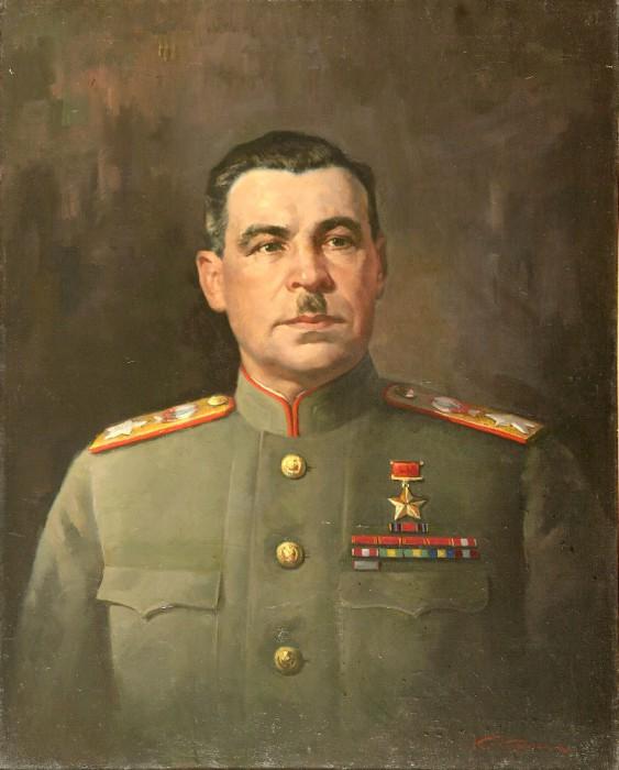 Корыгин Константин. Портрет маршала Л.А. Говорова.