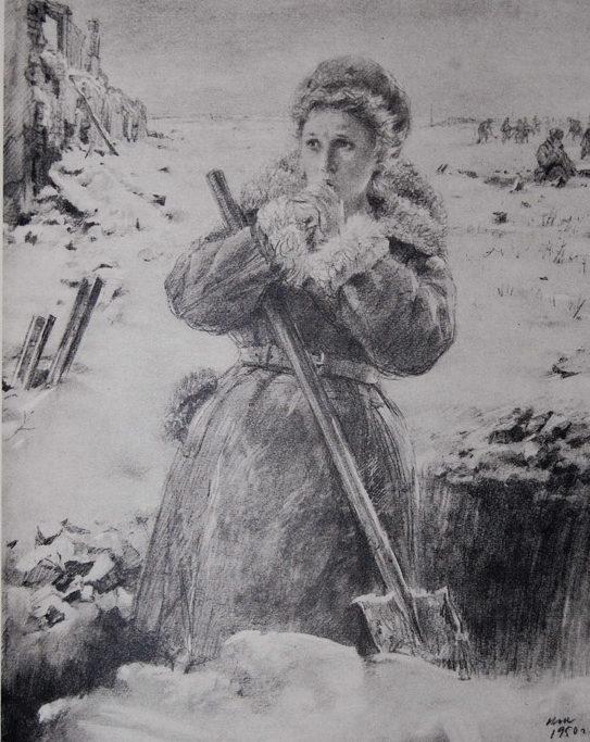 Жуков Николай. В окопе.