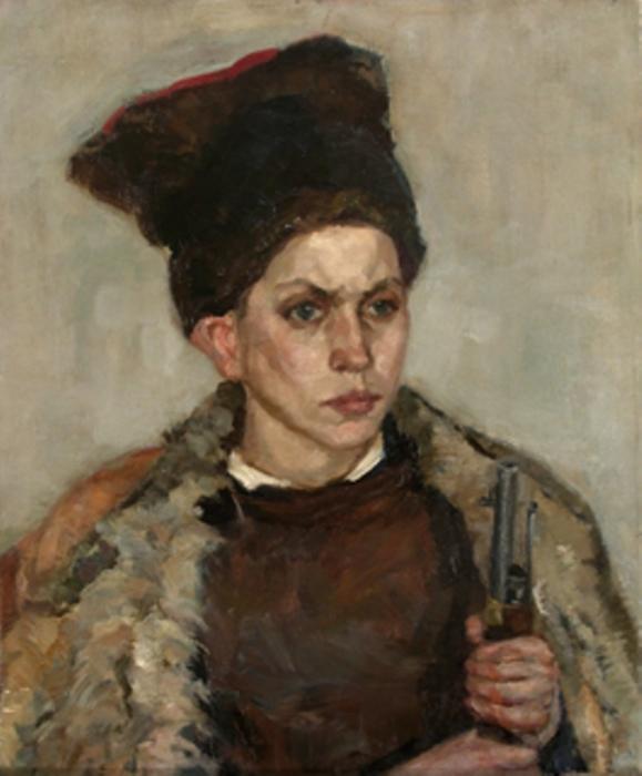Зайцев Евгений. Портрет юного партизана.