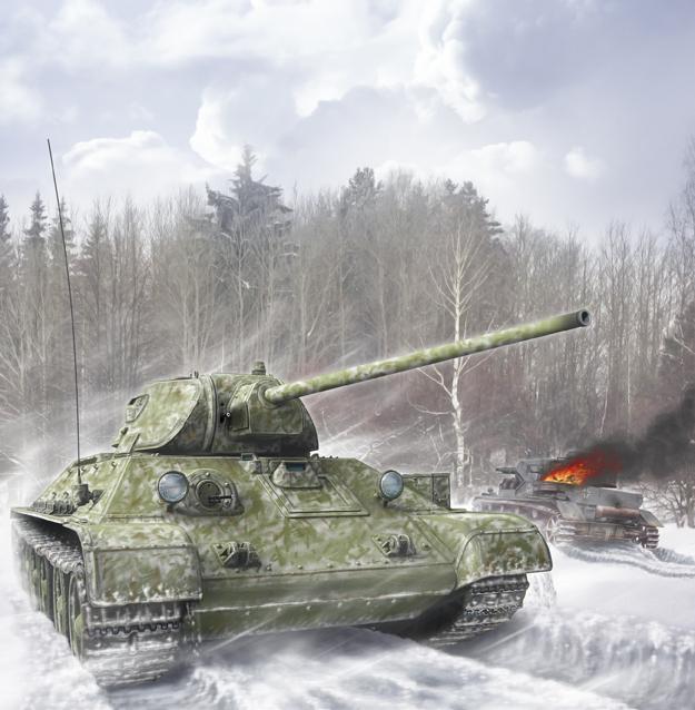 Петелин Валерий. Танк Т-34/57.