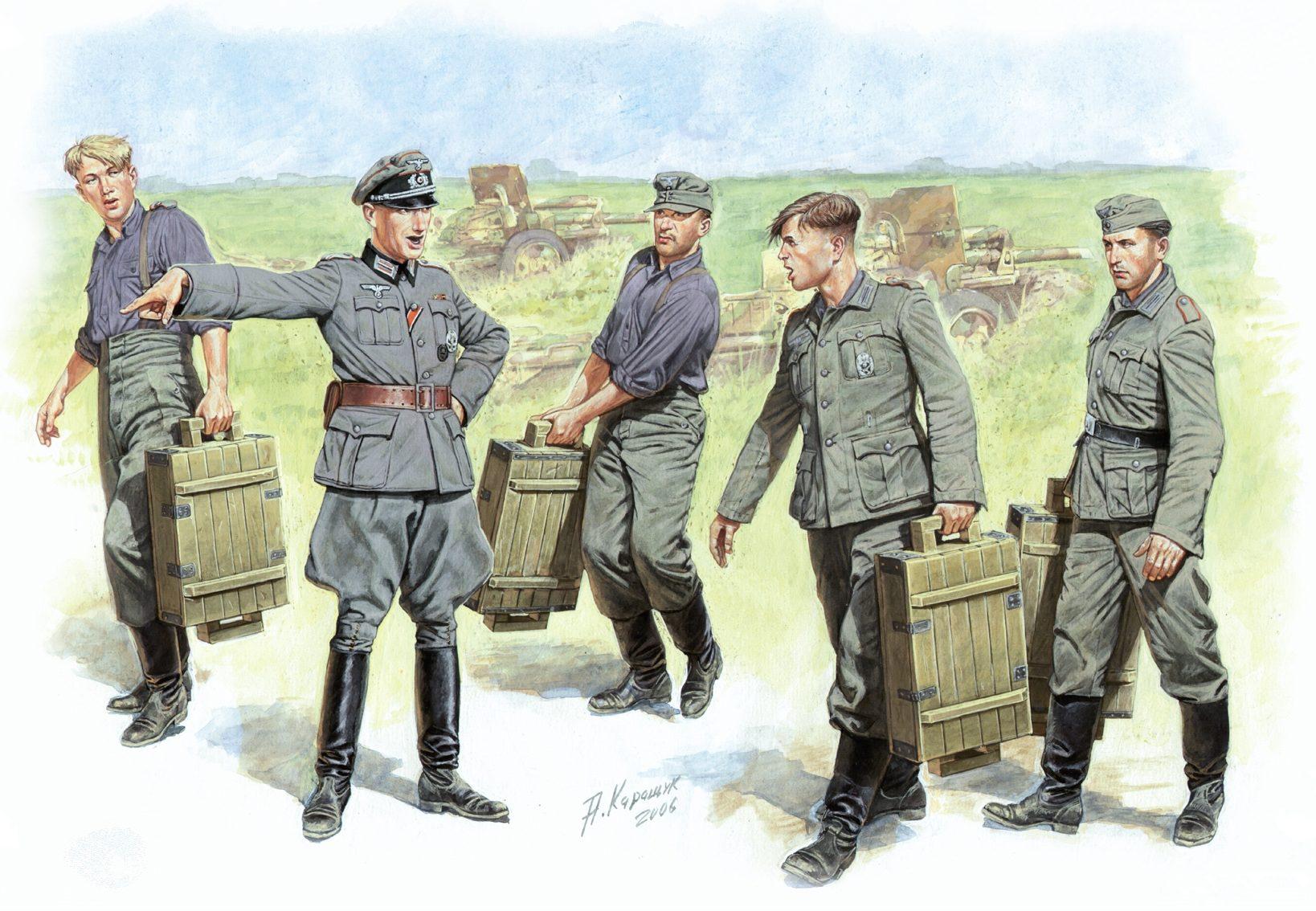 Каращук Андрей. Немецкие артиллеристы.