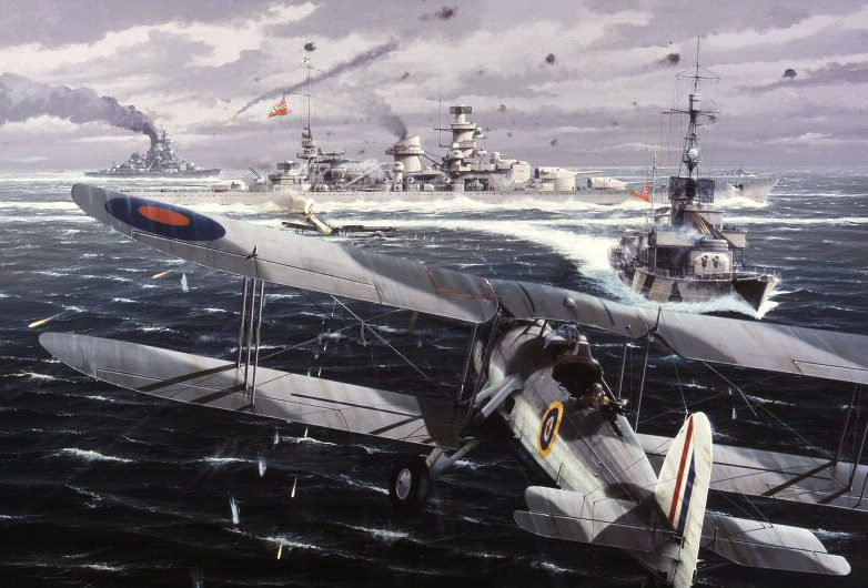 Berryman Ivan. Атака на линкор «Scharnhorst».