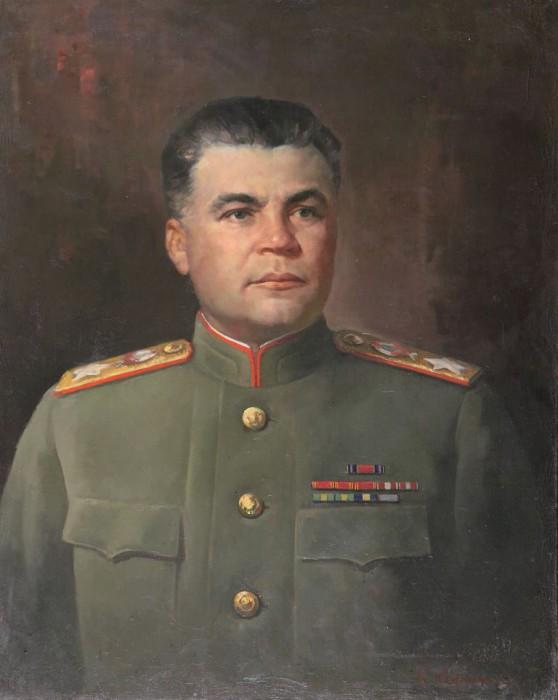 Корыгин Константин. Портрет маршала Р.Я. Малиновского.